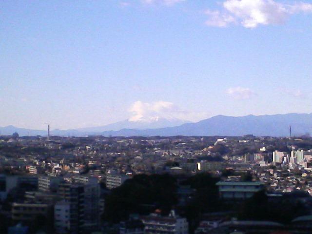 真白き雪の富士山